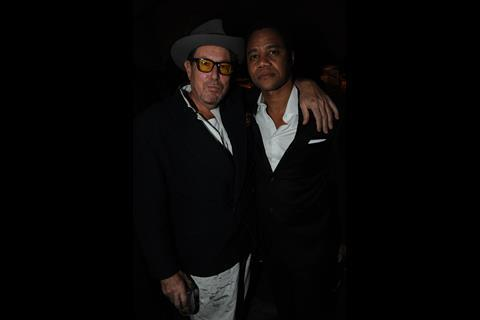 Julian Schnabel and Cuba Gooding Jnr